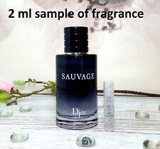 Christian Dior Sauvage Parfum for Him Eau De Toilette EDT 2ml sample 100%genuine