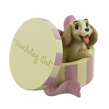 Disney Magical Moments Lady In Hat Box - Birthday Girl Figurine