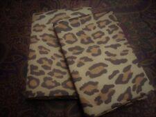 2 King Pillowcases Set Two New Ralph Lauren VENETIAN COURT LEOPARD 450t BOHEMIAN