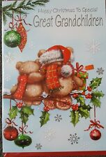HAPPY CHRISTMAS TO A SPECIAL GREAT GRANDCHILDREN CHRISTMAS CARD