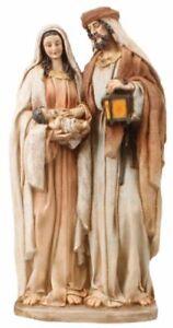 Xmas Holy Family Christmas Scene Ornament 3 Figures Traditional Decoration 45 cm