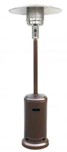 Patio Heater Tall Bronze Finish Garden Outdoor Heater Propane Standing Gas
