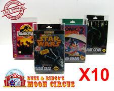 10x Sega Game Gear Box Cib - Clear Plastic Protective Box Protector Sleeve Case