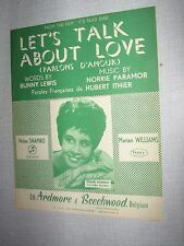 PARTITION MUSICALE BELGE HELEN SHAPIRO LET'S TALK ABOUT