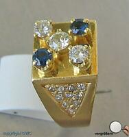 Saphirring Ring 750 Gold Diamant Brillant Saphir Saphiren Safir Brillanten