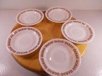 Pyrex LOT of 5 Tableware Corning Saucers Copper Filigree Restaurant Ware Corning