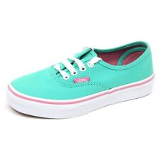 D5242 sneaker bimba verde acqua VANS scarpe green water shoe kid