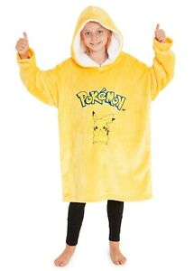 Pokemon Pikachu Oversized Blanket Hoodie for Boys Girls