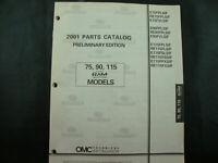 2001 Evinrude Johnson Parts Catalog 75, 90, 115 Ficht RAM Injection Models OMC