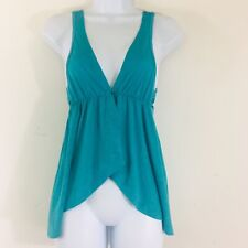 One Step Up Womens Vest Sz S  Aqua Blue Sleeveless Lightweight Casual LZ33