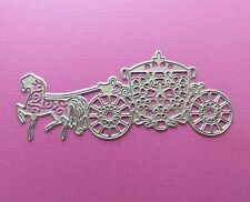 Die cutting - matrice de coupe -  carosse ajoure & cheval - carriage with horse
