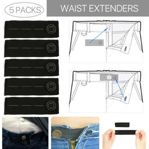 """COMFORT FIT Elastic 1-2/"""" Waistband Extender for Pants 10"""