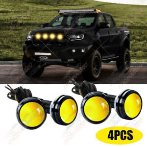 Amber LED Rock Round Button Lights For Truck Eagle Eye Side Marker Lights Lamp