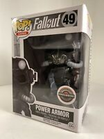 Funko Pop Games #49 Fallout Power Armor Figure GameStop Vaulted Retired New Rare