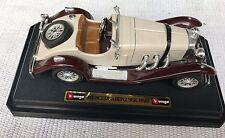 BURAGO-Mercedes-Benz-SSK-1928-Blanc-Creme-echelle-1-24