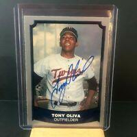 1988 Pacific Tony Oliva Autograph Card - Minnesota Twins Legend - 1964 AL ROY