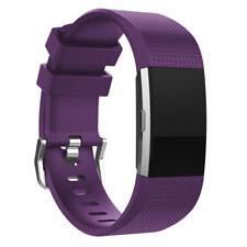 Fitbit Cargo 2 Correa De Silicona Doble Correa Portadora Band-Púrpura-FB0013