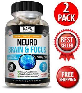 (2 Pack) Neuro Brain & Focus, Memory, Function, Clarity Nootropic Supplement