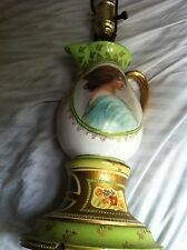 MAGNIFICENT ANTIQUE HAND PAINTED LAMP