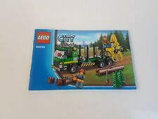 LEGO  !! INSTRUCTIONS ONLY !! FOR CITY 60059 LOGGING TRUCK