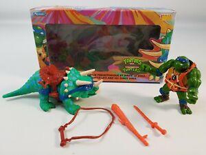 Cave Turtle Leo & His Dingy Dino Boxed Playmates Original Teenage Mutant Ninja