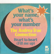 THE ANDREA TRUE CONNECTION - WHAT'S YOUR NAME  - ONLY COVER - SOLO COPERTINA