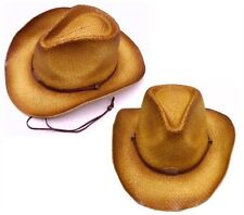 fc33add5766 BROWN TONE COWBOY HAT W CURL UP SIDES western hats NEW