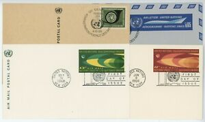 United Nations Postcards Air Letter FDC Cover 1966 to 1969 Lot of 4 #14591