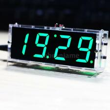digital clock kit products for sale ebay4 digit led clock diy kit light control temperature date time display green g9d2