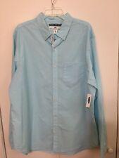 NWT Old Navy Men's Classic Long Sleeve Shirt XL Soft Wash Pale Aqua Blue MSRP$30