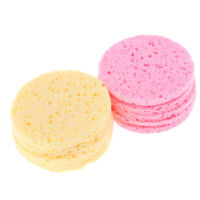 10pcs Facial Wash Pad Makeup Remover Cleaning Sponge Puff Towel Face Scrub