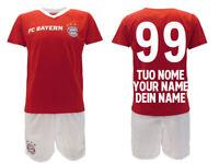 Completo Bayern Monaco personalizzato ufficiale 2020 2019 maglia pantaloncini