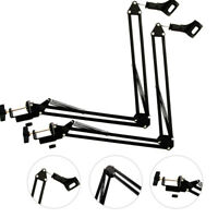 2 x Mic Microphone Suspension Boom Scissor Arm Stand Holder for Studio Broadcast