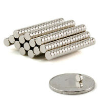 50PCS N35 Strong Magnets Round Neodymium Rare-Earth Disc Fridge Tool DIY 4x2mm