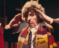 Tom Baker SIGNED photo - J568 - Doctor Who