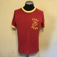 Vintage United States Marine Corps Headquarters Battalion Ringer T-Shirt Size L
