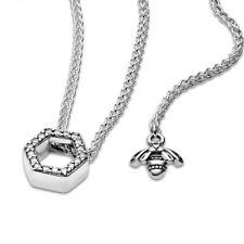 GENUINE Pandora Sparkling Honeycomb Hexagon Collier Necklace 398787C01