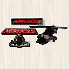 Airwolf Patches Set Helicopter Santini Air Dominic String Hawke Embroidered