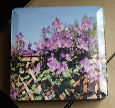 VINTAGE HUNTLEY AND PALMER LILAC FLOWER TIN