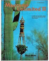 Macrame Unlimited II, OWLS, hangers, hangings, VINTAGE 70s booklet, see pics