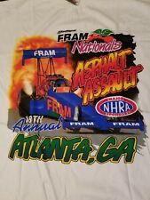 Vintage 1998 NHRA Drag Racing T Shirt XL 18th annual Fram Nationals Atlanta *new