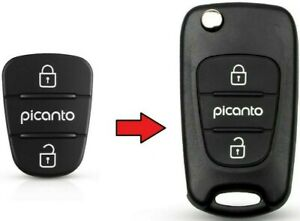 Kia Picanto 3 Button Rubber Pad Replacement Repair for Flip Key Fob