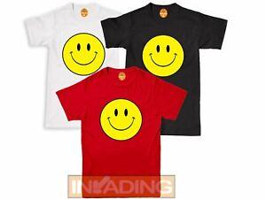 SMILEY FACE Acid House Dance Rave 90's RETRO DJ Tshirt Tee Top Multiiple Colours