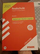 STARK Realschule 2021 Hessen LÖSUNGEN Mathematik Deutsch Englisch NEU!!!