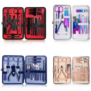 7-23Pcs Professional Nail cutter Pedicure Scissor Set Manicure Nail Clipper set