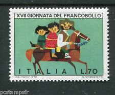 ITALIE 1975, timbre 1249, JOURNEE TIMBRE, CHEVAL, DESSIN, neuf**