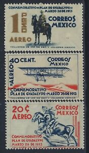 Mexico, Scott #C82-C84, Plan of Guadalupe, MH