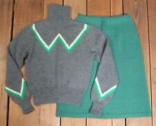 Vintage 1950s Wool Sweater w/Matching Skirt Handmade Figure Skating Outfit Nice!