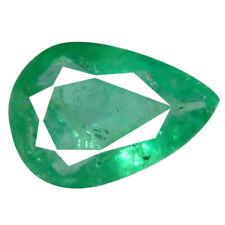 0.48 ct Good-looking Pear Cut (7 x 5 mm) Green (Un-Heated) Emerald Gemstone