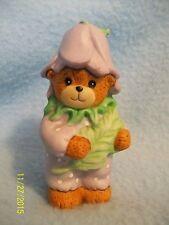 "Lucy & Me PURPLE FLOWER Bear 3"" Figurine 1989 ~ CUTE! LQQK here >>"